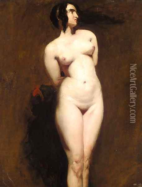 Study of a Standing Female Nude Oil Painting - William Etty