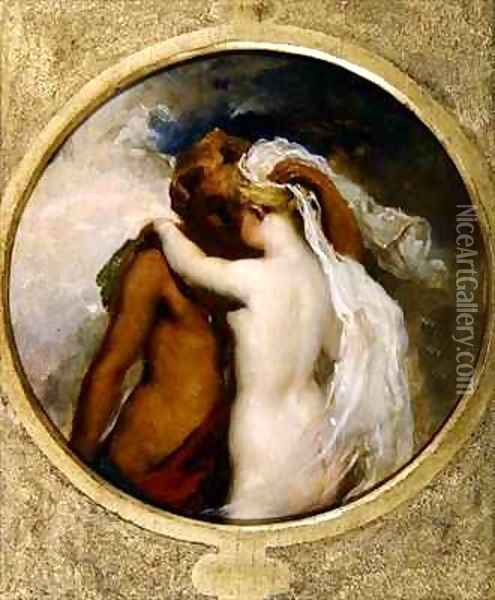 Cupid and Psyche Oil Painting - William Etty