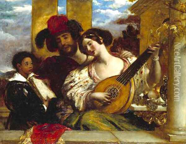 Il Duetto (The Duet) Oil Painting - William Etty