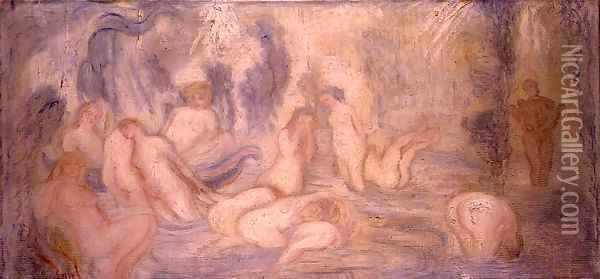 Bathing Girls, 1911 Oil Painting - James Ensor