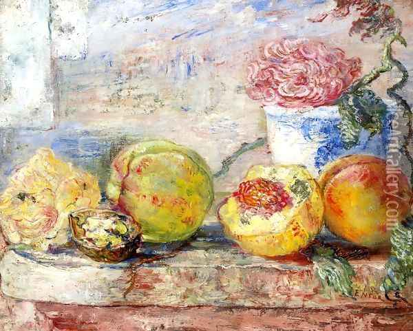Peaches, 1890 Oil Painting - James Ensor