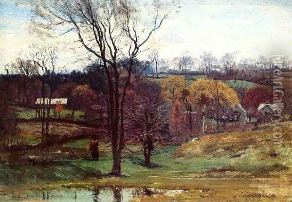 A Late Afternoon Walk Oil Painting - John Joseph Enneking