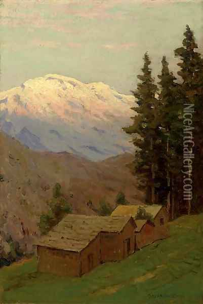 Glacier National Park Oil Painting - Charles Harry Eaton