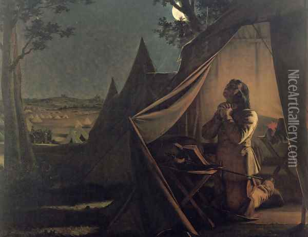 The Night before Naseby Oil Painting - Augustus Leopold Egg