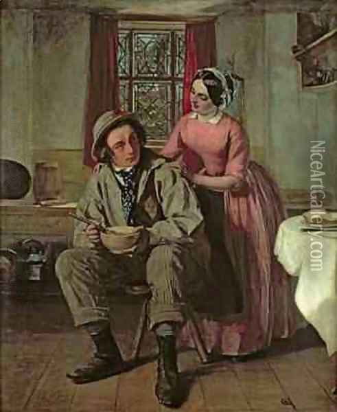 Dickens in the character of Sir Charles Coldstream Oil Painting - Augustus Leopold Egg