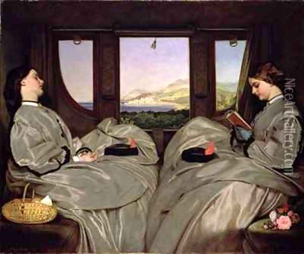 The Travelling Companions Oil Painting - Augustus Leopold Egg