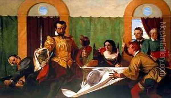 Taming of the Shrew Oil Painting - Augustus Leopold Egg