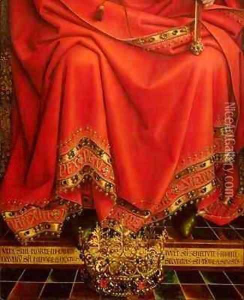 God the Father detail from the central panel of the Ghent Altarpiece 2 Oil Painting - Hubert & Jan van Eyck