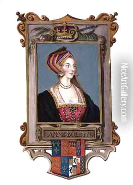 Portrait of Anne Boleyn 2nd Queen of Henry VIII as a Young Woman from Memoirs of the Court of Queen Elizabeth Oil Painting - Sarah Countess of Essex
