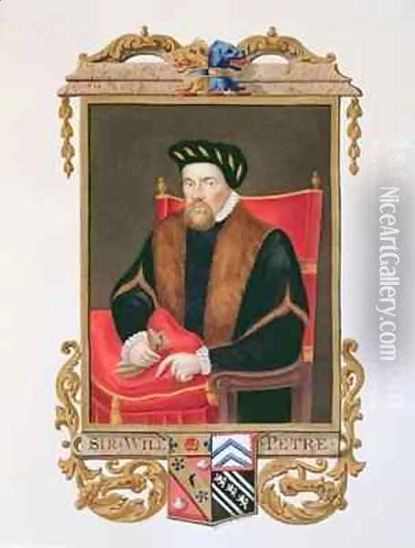 Portrait of Sir William Petre 1505-72 from Memoirs of the Court of Queen Elizabeth Oil Painting - Sarah Countess of Essex