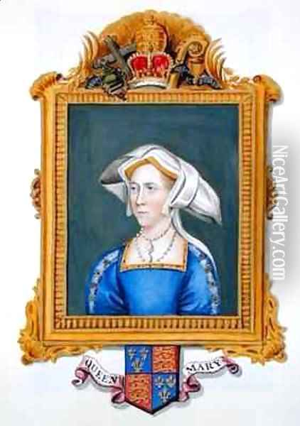 Portrait of Anne Boleyn wrongly called Queen Mary from Memoirs of the Court of Queen Elizabeth Oil Painting - Sarah Countess of Essex