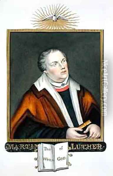 Portrait of Martin Luther from Memoirs of the Court of Queen Elizabeth Oil Painting - Sarah Countess of Essex