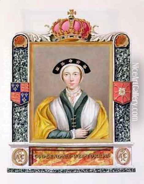 Portrait of Anne of Cleves 4th Queen of Henry VIII from Memoirs of the Court of Queen Elizabeth Oil Painting - Sarah Countess of Essex