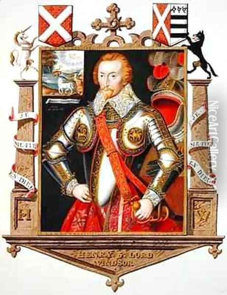 Portrait of Henry 5th Lord Windsor 1562-1615 from Memoirs of the Court of Queen Elizabeth Oil Painting - Sarah Countess of Essex