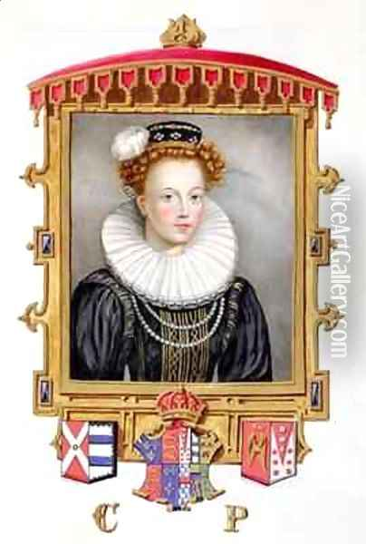 Portrait of Catherine Parr Sixth Wife of Henry VIII as a Young Widow from Memoirs of the Court of Queen Elizabeth Oil Painting - Sarah Countess of Essex