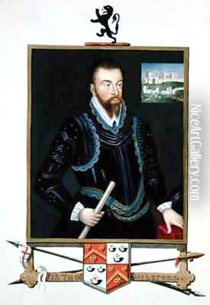 Portrait of Sir Thomas Wilsford from Memoirs of the Court of Queen Elizabeth Oil Painting - Sarah Countess of Essex