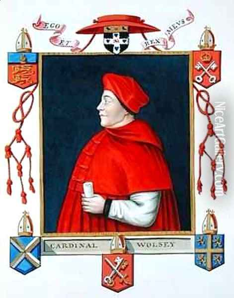Portrait of Thomas Wolsey Cardinal and Statesman from Memoirs of the Court of Queen Elizabeth Oil Painting - Sarah Countess of Essex