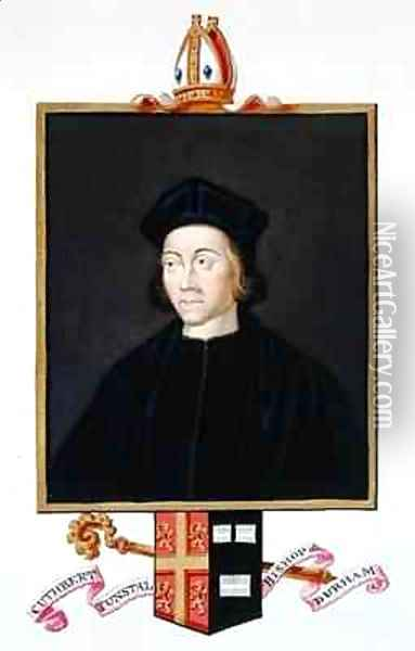 Portrait of Cuthbert Tunstall Bishop of Durham from Memoirs of the Court of Queen Elizabeth Oil Painting - Sarah Countess of Essex
