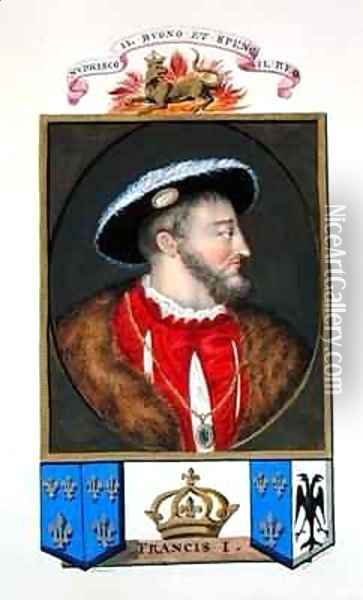 Portrait of Francois I King of France from Memoirs of the Court of Queen Elizabeth Oil Painting - Sarah Countess of Essex
