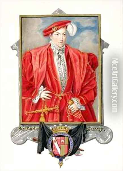 Portrait of Henry Howard Earl of Surrey from Memoirs of the Court of Queen Elizabeth Oil Painting - Sarah Countess of Essex