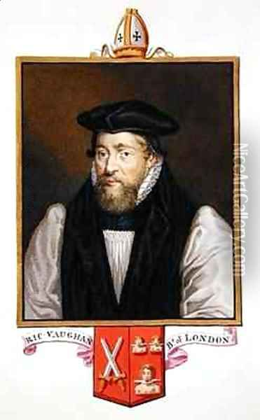 Portrait of Richard Vaughan Bishop of London from Memoirs of the Court of Queen Elizabeth Oil Painting - Sarah Countess of Essex
