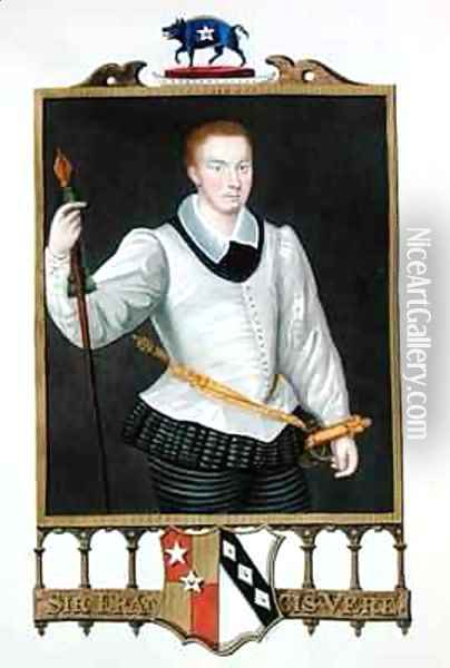 Portrait of Sir Francis Vere 1560-1609 from Memoirs of the Court of Queen Elizabeth Oil Painting - Sarah Countess of Essex