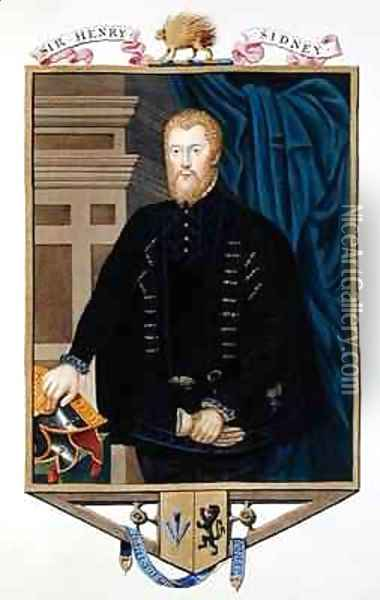 Portrait of Sir Henry Sidney from Memoirs of the Court of Queen Elizabeth Oil Painting - Sarah Countess of Essex