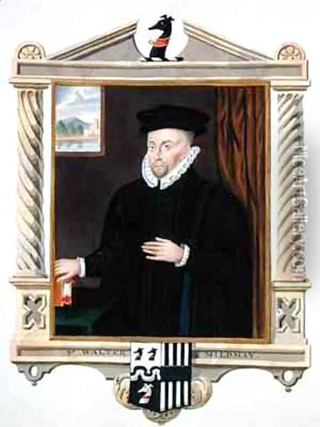 Portrait of Sir Walter Mildmay from Memoirs of the Court of Queen Elizabeth Oil Painting - Sarah Countess of Essex