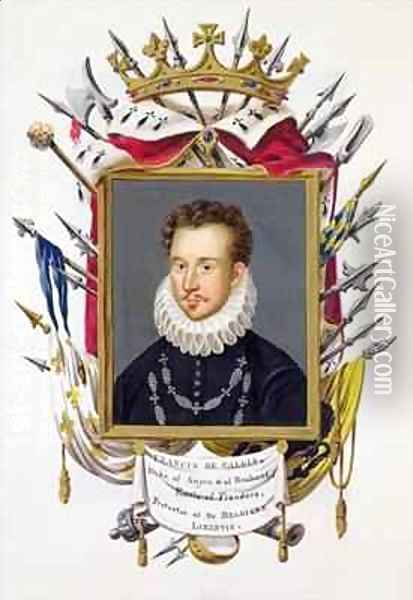 Portrait of Charles IX of France from Memoirs of the Court of Queen Elizabeth Oil Painting - Sarah Countess of Essex