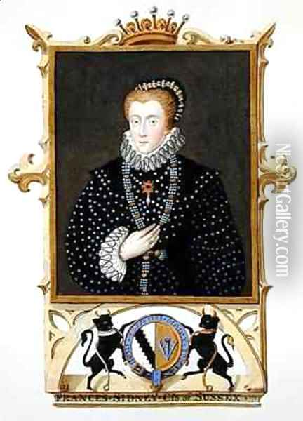 Portrait of Frances Sidney Countess of Sussex from Memoirs of the Court of Queen Elizabeth Oil Painting - Sarah Countess of Essex