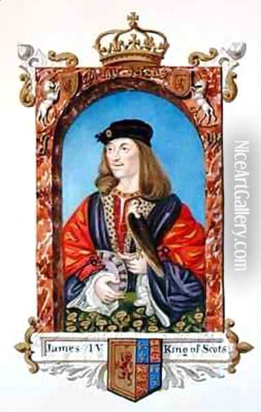 Portrait of James IV of Scotland from Memoirs of the Court of Queen Elizabeth Oil Painting - Sarah Countess of Essex
