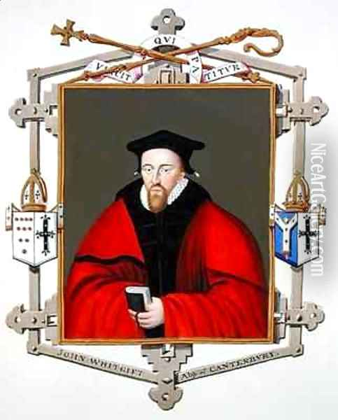Portrait of John Whitgift Archbishop of Canterbury from Memoirs of the Court of Queen Elizabeth Oil Painting - Sarah Countess of Essex