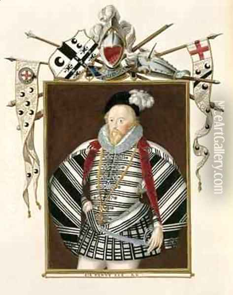 Portrait of Sir Henry Lee from Memoirs of the Court of Queen Elizabeth Oil Painting - Sarah Countess of Essex