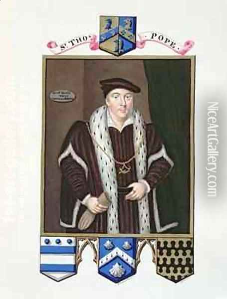 Portrait of Sir Thomas Pope from Memoirs of the Court of Queen Elizabeth Oil Painting - Sarah Countess of Essex