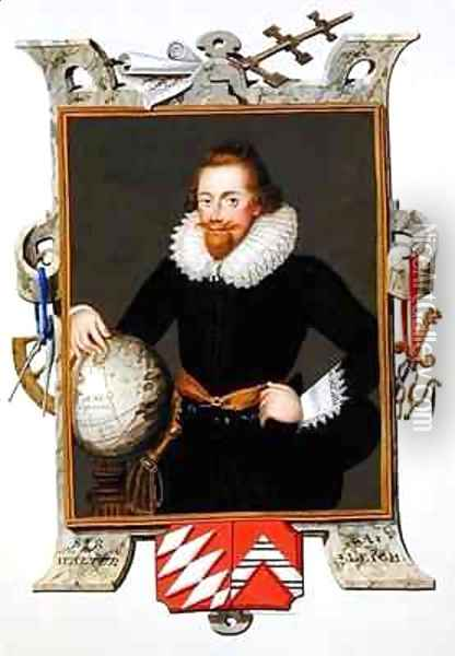Portrait of Sir Walter Raleigh from Memoirs of the Court of Queen Elizabeth Oil Painting - Sarah Countess of Essex