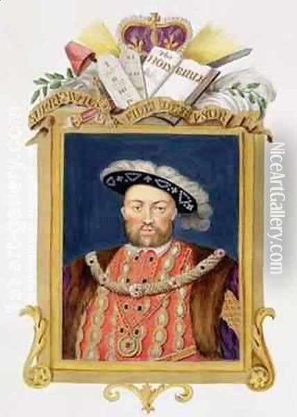 Portrait of Henry VIII as Defender of the Faith from Memoirs of the Court of Queen Elizabeth Oil Painting - Sarah Countess of Essex
