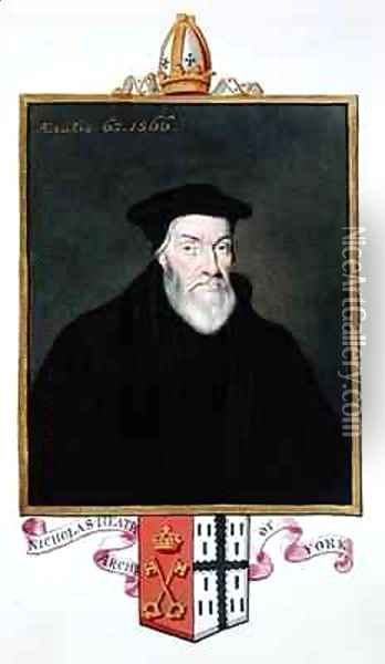 Portrait of Nicholas Heath Archbishop of York from Memoirs of the Court of Queen Elizabeth Oil Painting - Sarah Countess of Essex