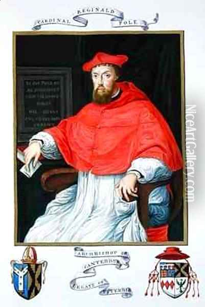 Portrait of Reginald Pole Archbishop of Canterbury and Legate of Viterbo from Memoirs from the Court of Queen Elizabeth Oil Painting - Sarah Countess of Essex