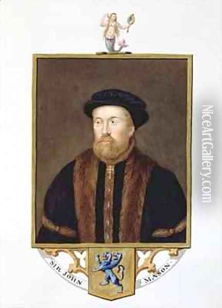 Portrait of Sir John Mason 1503-66 from Memoirs of the Court of Queen Elizabeth Oil Painting - Sarah Countess of Essex