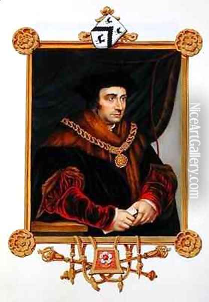 Portrait of Sir Thomas More 1478-1535 from Memoirs of the Court of Queen Elizabeth Oil Painting - Sarah Countess of Essex