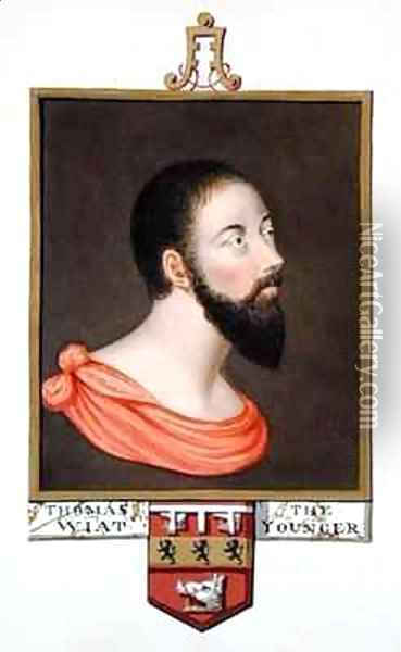 Portrait of Sir Thomas Wyatt the Younger from Memoirs of the Court of Queen Elizabeth Oil Painting - Sarah Countess of Essex