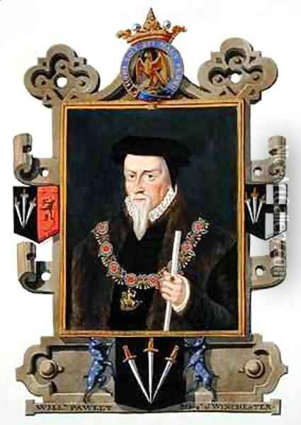 Portrait of Sir William Paulet Marquis of Winchester from Memoirs of the Court of Queen Elizabeth Oil Painting - Sarah Countess of Essex