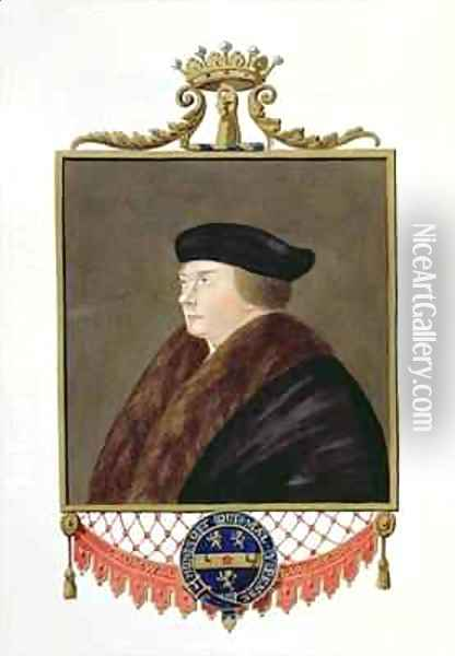 Portrait of Thomas Cromwell Ist Earl of Essex from Memoirs of the Court of Queen Elizabeth Oil Painting - Sarah Countess of Essex