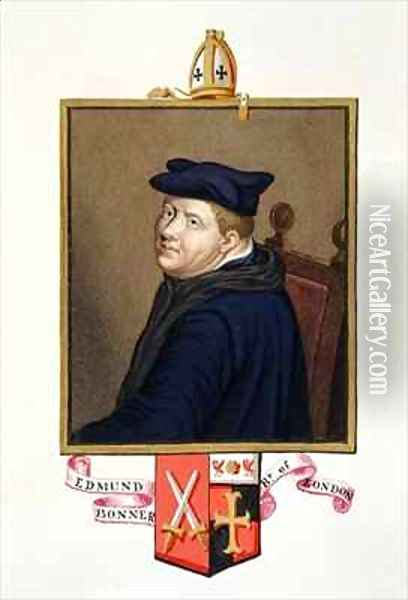 Portrait of Edmund Bonner Bishop of London from Memoirs of the Court of Queen Elizabeth Oil Painting - Sarah Countess of Essex