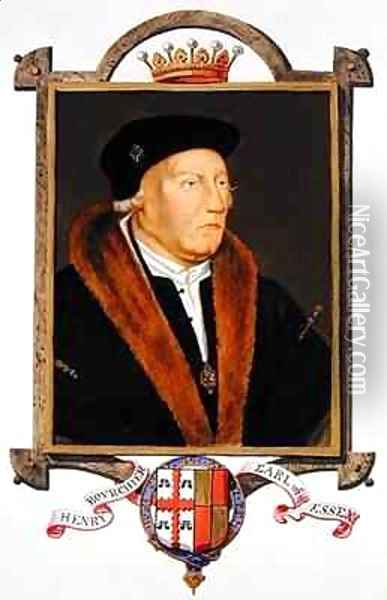 Portrait of Henry Bourchier 2nd Earl of Essex from Memoirs of the Court of Queen Elizabeth Oil Painting - Sarah Countess of Essex