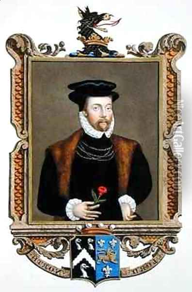 Portrait of Lord Roger North 1530-1600 2nd Baron North from Memoirs of the Court of Queen Elizabeth Oil Painting - Sarah Countess of Essex