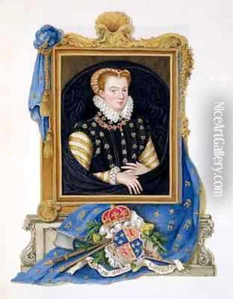 Portrait of Mary Queen of Scots from Memoirs of the Court of Queen Elizabeth 2 Oil Painting - Sarah Countess of Essex