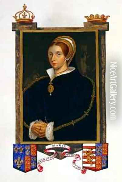 Portrait of Mary Tudor from Memoirs of the Court of Queen Elizabet Oil Painting - Sarah Countess of Essex