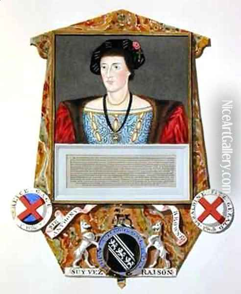 Portrait of Sir Anthony Browne from Memoirs of the Court of Queen Elizabeth Oil Painting - Sarah Countess of Essex