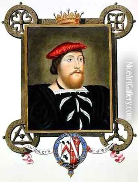 Portrait of Thomas Boleyn Earl of Wiltshire from Memoirs of the Court of Queen Elizabeth Oil Painting - Sarah Countess of Essex